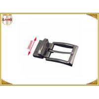 China 30mm Metal Gunmetal Buckle For Belt With Reversible Clip Safety Plating wholesale