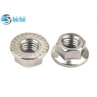 China Hex Head Flange Nuts  Fully Threaded Iron / Alloy Steel Material Metric Standard DIN 6932 wholesale
