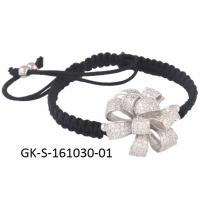 China Handmade 925 sterling silver jewellery, rhodium / gold / rose gold flower bracelet with cz wholesale