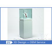 China OEM Square White Glass Jewelry Display Cases / Lockable Jewellery Display Cabinet wholesale