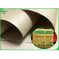 China SGS Approved Hard Stiffness 90gsm Natural Brown Kraft Liner Paper For Cement Bags wholesale