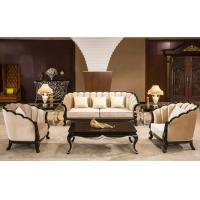 China Classic Commercial Hotel Furniture Luxury Beige Fabric Sectional Sofa Set wholesale