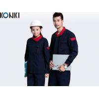 China Contrast Color Industrial / Factory Workwear Sets 100% Cotton Mens Workwear wholesale