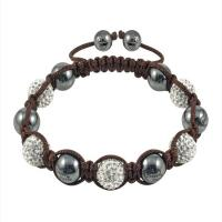 China Mix Color Hot sale adjustable 12mm Fashion Shamballa Czech Crystal Bangle Bracelets wholesale