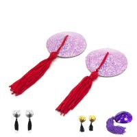 China Female Toys Tassels Nipple Covers / Breast Pads Round Shaped , Sex Bondage Toys wholesale