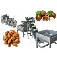 China Drying Hazelnut Cashew Nut Shell Breaking Machine For Industry , 500 Kg/H wholesale