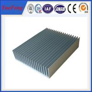 China industry aluminum profiles heatsink, OEM customized drawing industrial aluminum heat sink wholesale