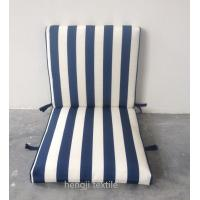 China stripe pattern 4 set velcro middle back patio chair cushion on sale