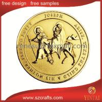 China Plastic trolley token coin/fake gold coins/commemorative cheap custom coins wholesale