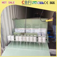China Stainless Steel 316 Block Ice Maker / Dry Ice Block Machine With Crane System wholesale