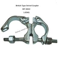 China Hot dip galvanized / forged Scaffolding Double Coupler , 360 Degrees swivel couplings wholesale