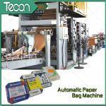 China Step Cut 25Kilogram Grain Wheat Food Paper Bag Making Machine With 2.5mm - 5mm Perforation wholesale