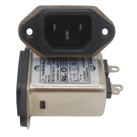 China IEC Socket Plug In RFI Filter 115VAC 250VAC 3A 6A 10A Emi Rfi Noise Filter wholesale
