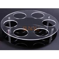 China Black Acrylic Jewelry Stand Jewelry Display Rack With Laser Cutting wholesale