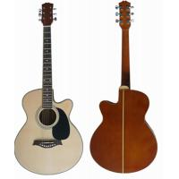 China 40 inch Kauripine Back Wood Acoustic Guitar White ABS 5 Line AF4021C-B wholesale