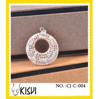 China Hight quality CZ crystal & 925 silver round handcrafted crystal charm in a poly bag wholesale