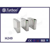 China Waist Height Flap Barrier Turnstile / Pedestrian Turnstile Gate Access Control wholesale