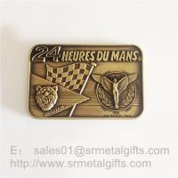 China Custom made Antique brass metal emblem plate sign plaques, zinc alloy, on sale