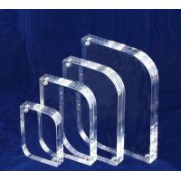 China 10mm / 15mm Clear Acrylic Photo Frames Desktop Stand OEM wholesale