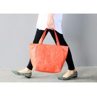 China Women ' S Tyvek Travel Tote Bags Water Resistant Light Weight For Shopping wholesale
