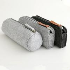 China Promotional zipper round felt pencil pouch/ pencil cases. size:20cm*6.5cm 2mm felt material. wholesale