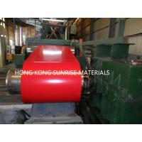 China 0.13 X 1219MM Prepainted Steel Coil , Red Color Coated Coil G550 Z60 wholesale