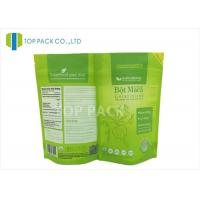 China Matte Surface Zip Lock Stand Up Pouch Packaging , Tea Powder resealable food packaging bags on sale