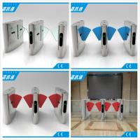 China Half Height Flap Gate Barrier Safety Access Control Turnstile Gate , CF238FLG-YJ wholesale