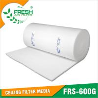 China EU5 high dust holding capacity medium efficiency spray booth air filter media wholesale