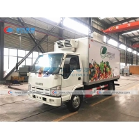 China ISUZU 3T 4T Refrigerated Van Truck For Ice Cream Delivery wholesale