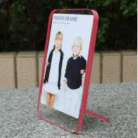 Quality clear acrylic pink side paperweight photo frame for sale