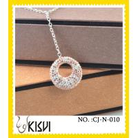 China Excellent finishing fashion cyrstal 925 silver shamballa necklace with factory price wholesale