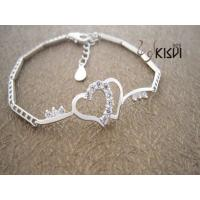 China Fashion Jewelry 925 Sterling Silver Bracelet with Zircon W-VK548 wholesale