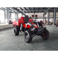 China Red One Seat 200CC GY6 4x4 Utility ATV FAMER Tractor , Tipping Quad wholesale
