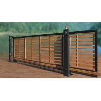 China Residential Wooden Cladded Motorized Automatic Sliding Gates , Anti-Climb Photo Cell wholesale