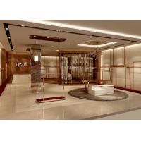 Quality Lady Apparel Showroom Retail Clothing Fixtures Rose Gold Stainless Steel Material for sale