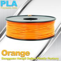 China Biodegradable Orange PLA 3d Printer Filament  1.75mm Materials For 3D Printing wholesale