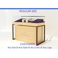 Quality Wood Store Jewelry Display Showcase With Large Removable Storage for sale