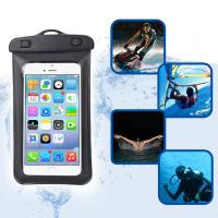 China Amphibious Floatable Waterproof Phone Pouch Bag With Lanyard and Armband Strap For Swimming / Running wholesale