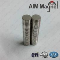 China N35/Nickel plating D6mmX5mm permanent type ndfeb magnet wholesale