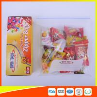 China Resealable Clear Ziplock Snack Bags For Food Packaging Eco Friendly wholesale