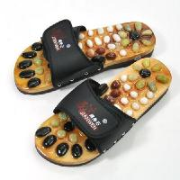 China Pebble massage slippers / foot care shoe - black (43 yards) wholesale