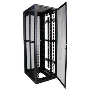 China 37RMU Full Server Rack , Field Reversible Door Hinges Locking Server Cabinet wholesale