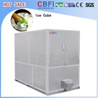 Stainless Steel Ice Cube Machine 10 Tons , Ice Maker Machine With LG Electrical Components
