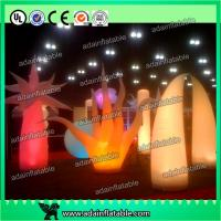 China Party Decoration Inflatable Lighting Cone Full Dot Printing Wave Shape Design wholesale