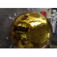 China 120CM Golden Mirror Ball Disco Stage Lights Rotating Ball wholesale