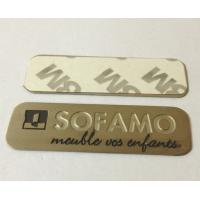 China Stainless steel name plate with chemically etched letters, 3M adhesive sticker sign plates on sale