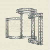 China Silver Aluminum Stage Lighting Truss System For Event 2 TONS Loading on sale
