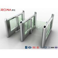 China Smart Electronic Flap Waist Height Turnstiles RFID Security Gate For Pedestrian Control wholesale