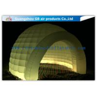 China Multi Color Lighting Round Inflatable Air Tent Dome With Oxfor Cloth Material wholesale